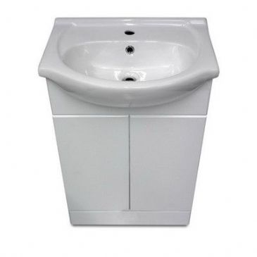 BASIN WHITE C/W 550MM UNIT